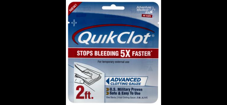 Blood Clotting Agent: Advanced Medical Kits QuikClot Clotting Gauze