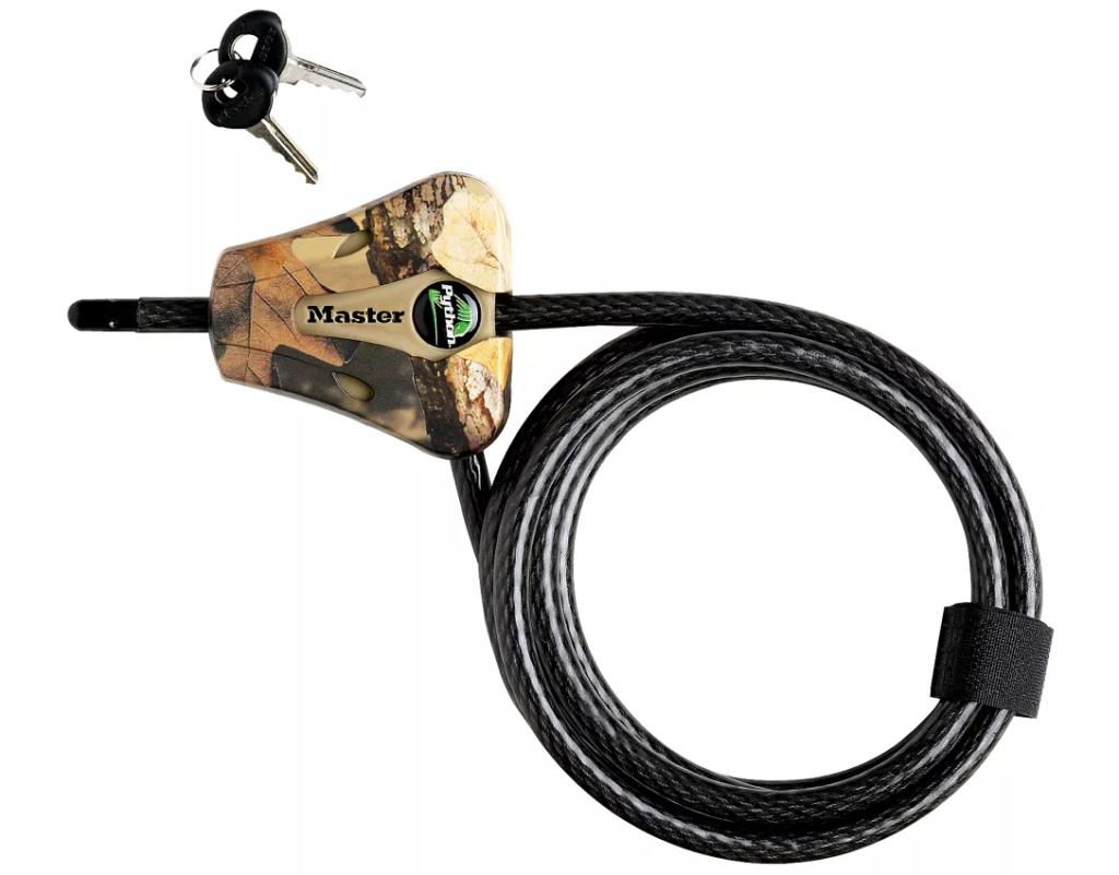 master lock for tree stand security