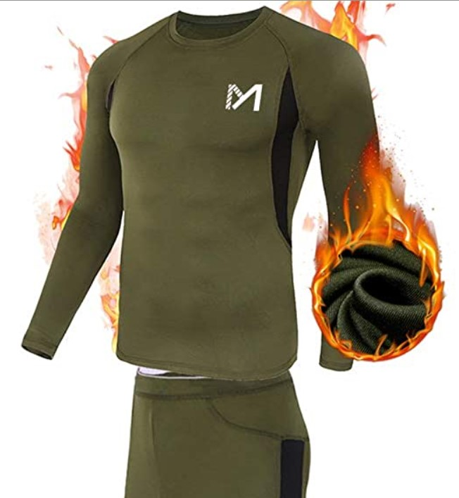 Men's Thermal Underwear Set Sport Long Johns Base Layer for Hunting